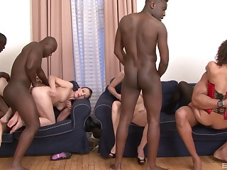 Hardcore interracial foursome with cum for Alice Black and Suzen Appealing
