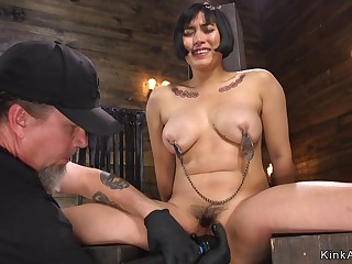 Queasy Asian Mother I´d Like To Make the beast with two backs toyed yon hogtie