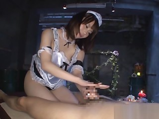 Misuzu Kawana naughty Asian maid gives hot handjob