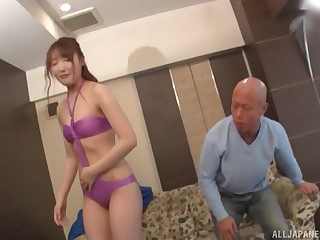 Arihara Ayumi wears her favorite underclothes to butter up and fuck her horny friend